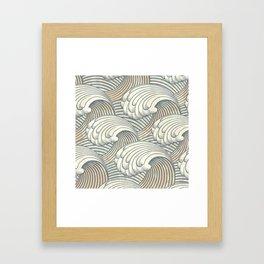 Ocean Waves Pattern Ancient Japan Art Framed Art Print