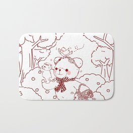 The Adventures of Bear and Baby Bear-Picking Berries Bath Mat