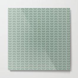 Silt Green Green Leaves Metal Print