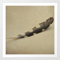 Polka Dot Feather Art Print