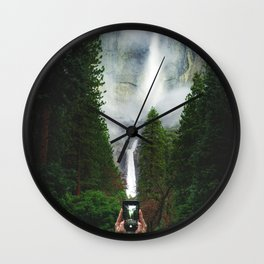 Yosemite Falls iPhone | Yosemite National Park, California Wall Clock