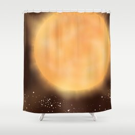 Tau Ceti space art poster. Shower Curtain