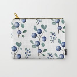Blackthorn Blue Berries Carry-All Pouch