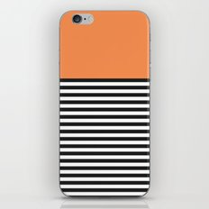 STRIPE COLORBLOCK {ORANGE} iPhone & iPod Skin