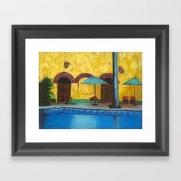 By The Poolside Framed Art Print
