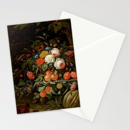 """Abraham Mignon """"Flowers and Fruit"""" Stationery Cards"""