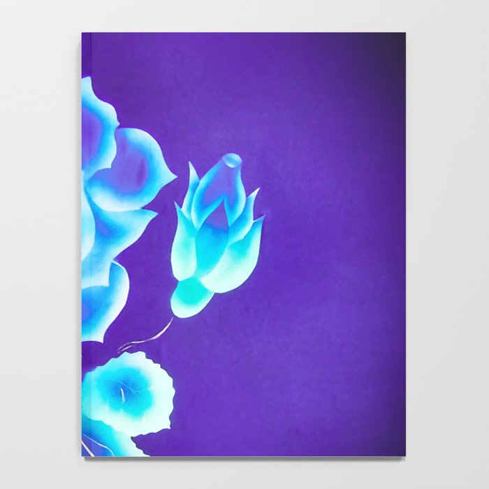Blue Rose Notebook
