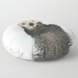 Painted Otter Reflections Floor Pillow