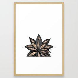 Gray Black Agave with Gold Glitter #2 #shiny #tropical #decor #art #society6 Framed Art Print