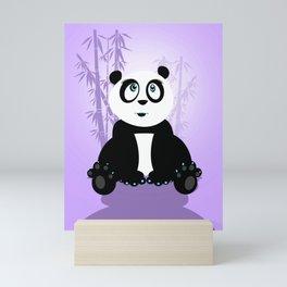Panda Girl - Purple Mini Art Print