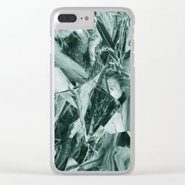 Green Abstract Eagle Nest Clear iPhone Case