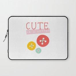 Cute as a Button Laptop Sleeve
