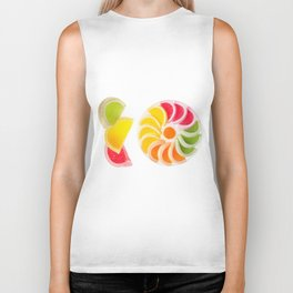 multicolored chewy gumdrops sweets Biker Tank