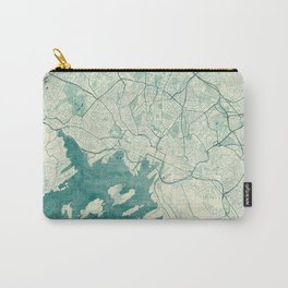 Oslo Map Blue Vintage Carry-All Pouch
