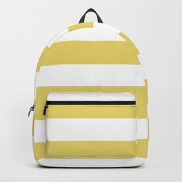 Hansa yellow - solid color - white stripes pattern Backpack