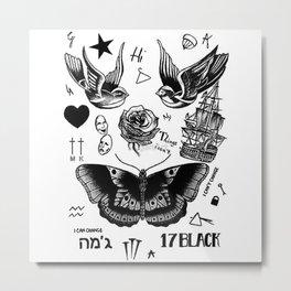 HS - tattoo Metal Print
