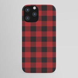 Red & Black Buffalo Plaid iPhone Case