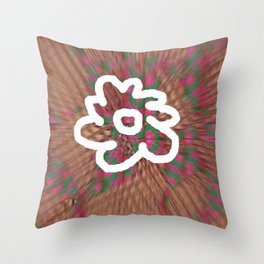 White Flower S11 Throw Pillow