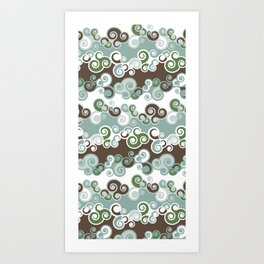 New 'Cool Waves' Patterns Art Print