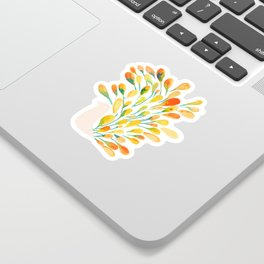 Watercolor Peacock Sticker