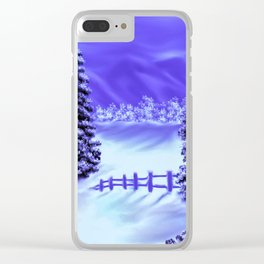Moon Over The Mountain Clear iPhone Case