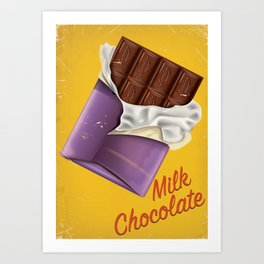 Milk Chocolate commercial poster Art Print