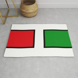 H stands for HELL - italian - Living Hell Rug