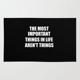 the most important things Rug
