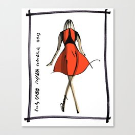 Red and Black at Lucky FABB Canvas Print
