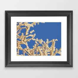 Frosted Trees Winter Framed Art Print