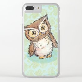 Little Brown Hoot Clear iPhone Case