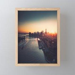 new york city skyline Framed Mini Art Print
