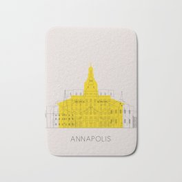 Annapolis Landmarks Poster Bath Mat