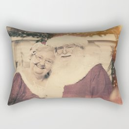 Santa and Ms Claus poising for their family photo Rectangular Pillow