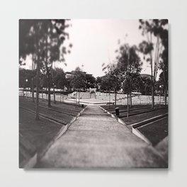 Umbrella Park Metal Print