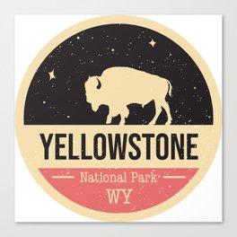 Yellowstone National Park Badge Canvas Print