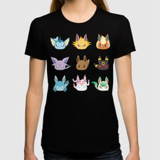 Eevee Evolutions MEDIUM Womens Fitted Tee Black