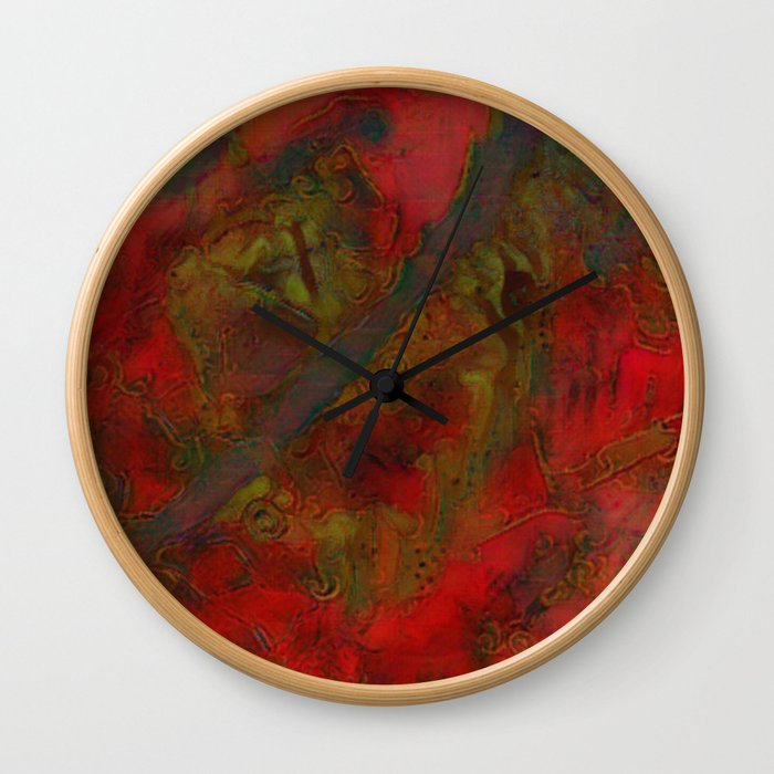 Colours of Morocco Wall Clock
