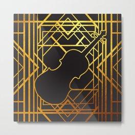 Art Deco Violin Metal Print