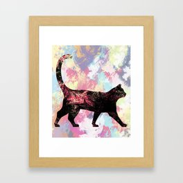 Abstract Cat Framed Art Print
