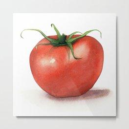 Tomato Watercolor Metal Print