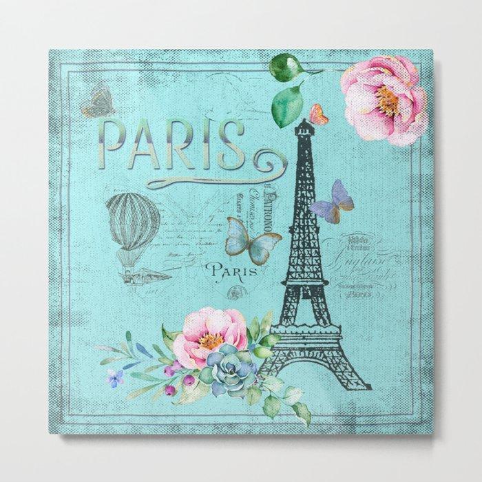 Paris - my blue love Metal Print