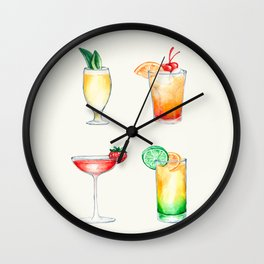 Cocktails 2 Wall Clock
