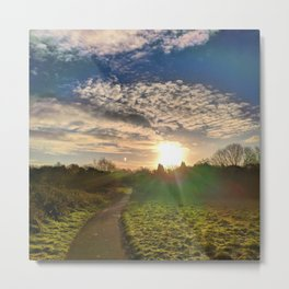 The Path to the Morning Sun Metal Print
