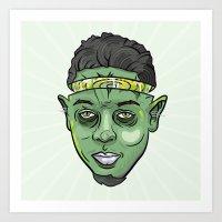 kendrick lamar Art Prints featuring Kendrick Lamar Yoda by Sneaker Pie