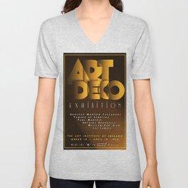 Art Deco Exhibition Poster Unisex V-Neck