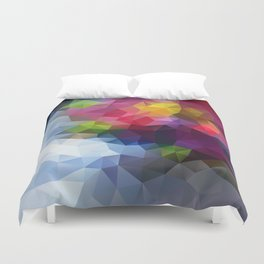 Low Poly Art Colourful Duvet Cover
