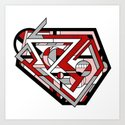 Corcillum - Heart Shaped Geometric Abstract by rmlstudios