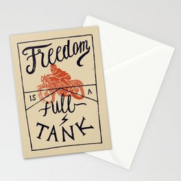 Freedom biker print Stationery Cards