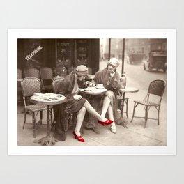 New Red Shoes Vintage Paris Photo Art Print